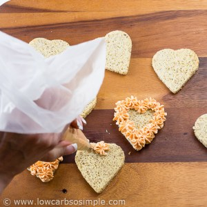 Image of Valentine's Day Appetizer; Piping the Cream Cheese Spread | Low-Carb, So Simple