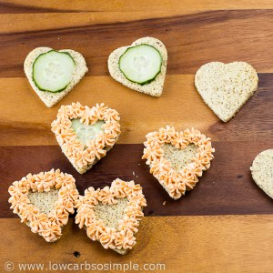 Image of Valentine's Day Appetizer; Cucumber Experiment| Low-Carb, So Simple