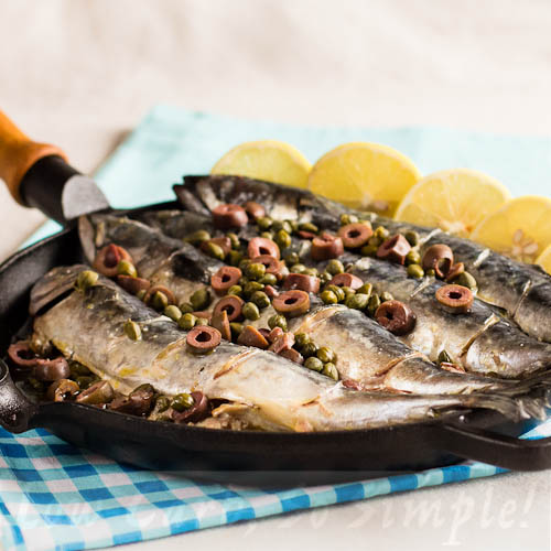 "Mackerel with Olives and Capers on my Kindle Book ""Easy Everyday Recipes"" 