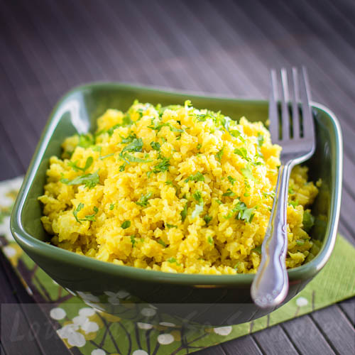 "Yellow Cauliflower Couscous on my Kindle Book ""Easy Everyday Recipes"" 
