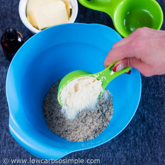 Adding Almond Flour   Low-Carb Hazelnut Butter Cookies