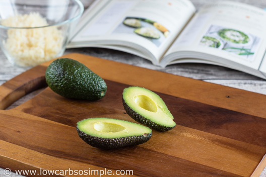 Vegetarian Stuffed Avocado from KetoDiet Cookbook; Avocados | Low-Carb, So Simple