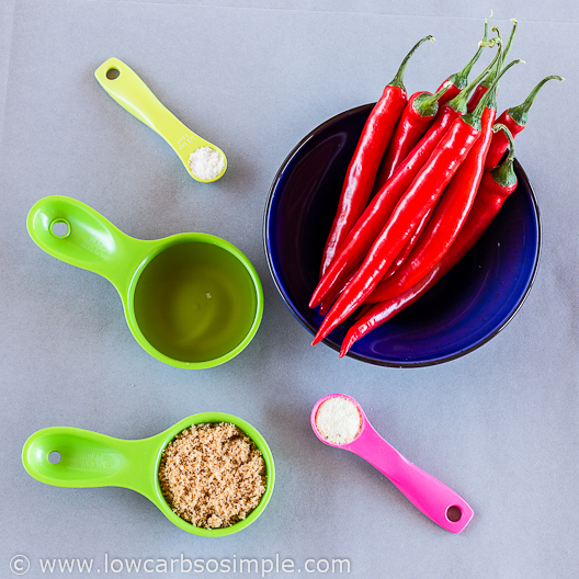 Sugar-Free Sweet Chili Sauce; Ingredients | Low-Carb, So Simple