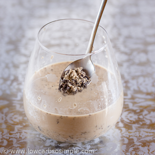 Coffee and Chocolate Chip Chia Pudding; Mixed | Low-Carb, So Simple