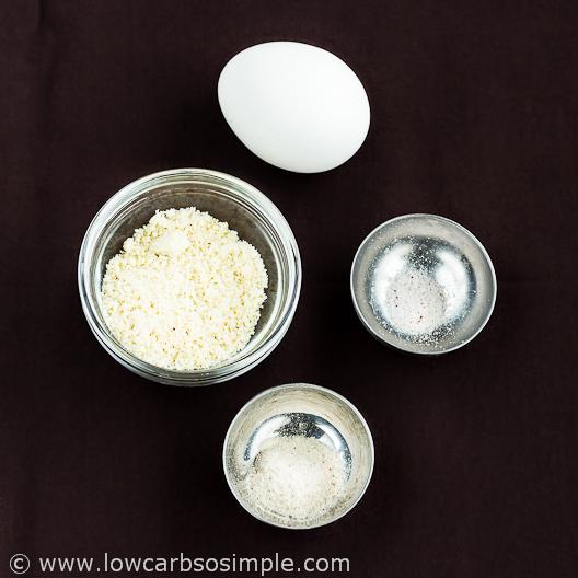 2-Minute 3-Ingredient Low-Carb Tortillas; Ingredients  Low-Carb, So Simple