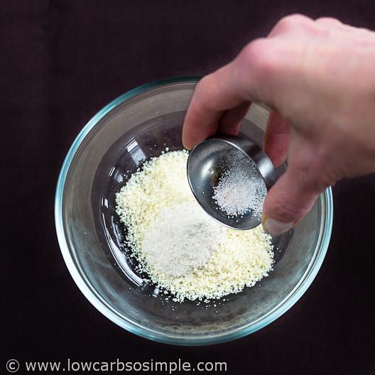 2-Minute 3-Ingredient Low-Carb Tortillas; Combining dry ingredients | Low-Carb, So Simple