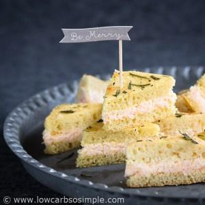Lemon Butter and Shrimp Mini Sandwiches | Low-Carb, So Simple