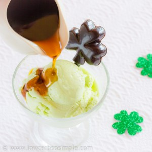 5-Ingredient Green Lemon Cheesecake Ice Cream and 2-Ingredient Whisky Syrup | Low-Carb, So Simple