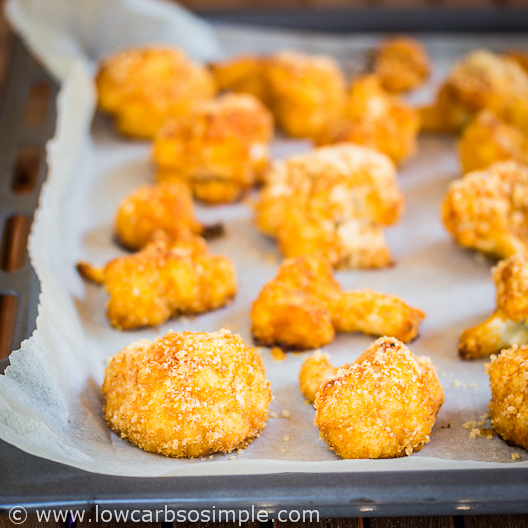 Buffalo Cauliflower; Ready Buffalo Cauliflower Straight from Oven; Low-Carb, So Simple