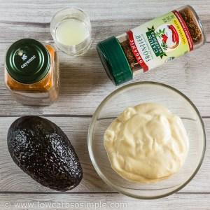 Spicy Cajun Avocado Mayo; Ingredients | Low-Carb, So Simple