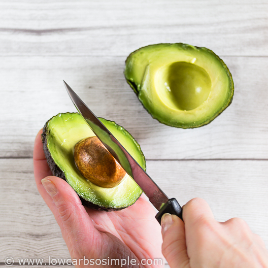 Spicy Cajun Avocado Mayo; Removing the Pit | Low-Carb, So Simple