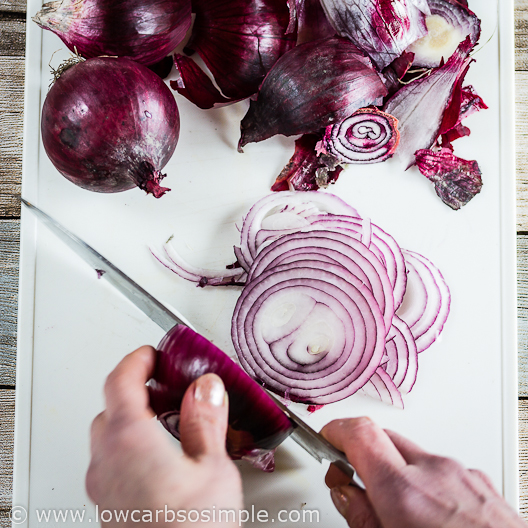Cutting Red Onion   Low-Carb, So Simple
