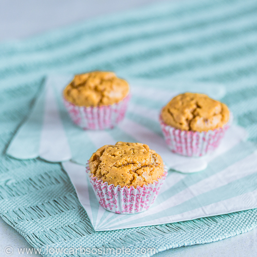 Mini Peanut Butter Muffins | Low-Carb, So Simple