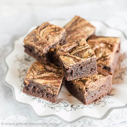 4-Ingredient Keto Peanut Butter Brownies   Low-Carb, So Simple