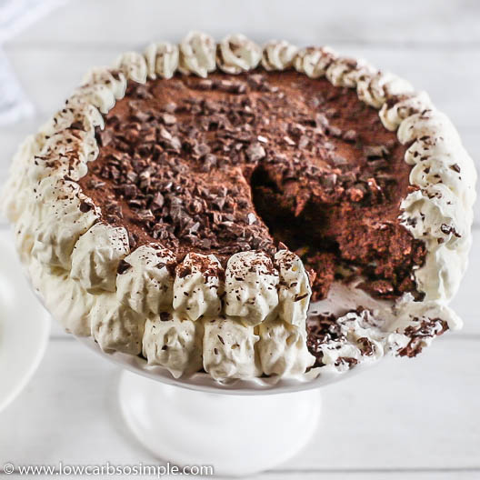 Rich Chocolate Cheesecake aka Chocolate Fat Bomb Cake | Low-Carb, So Simple