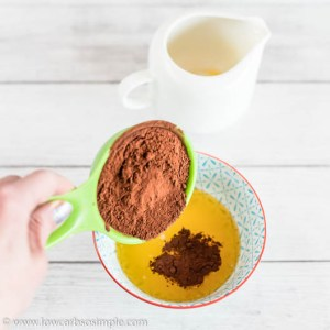 Adding Cacao Powder | Low-Carb, So Simple