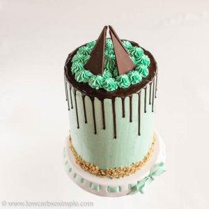 Mint Chocolate Keto Drip Cake | Low-Carb, So Simple
