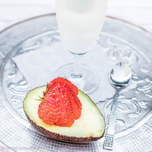 Avocado and Strawberry Surprise with Ice-Cold Cava | Low-Carb, So Simple