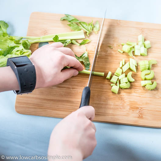 My Son Chopping Celery | Low-Carb, So Simple