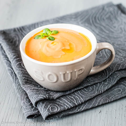 Creamy Tomato and Garlic Soup with EVOO | Low-Carb, So Simple