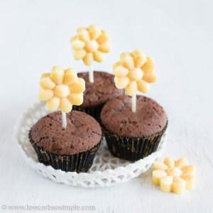 Keto Orange Creamsicle Fudge Cupcake Decorations | Low-Carb, So Simple