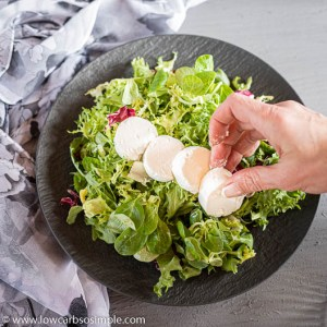 Adding Goat Cheese Slices | Low-Carb, So Simple