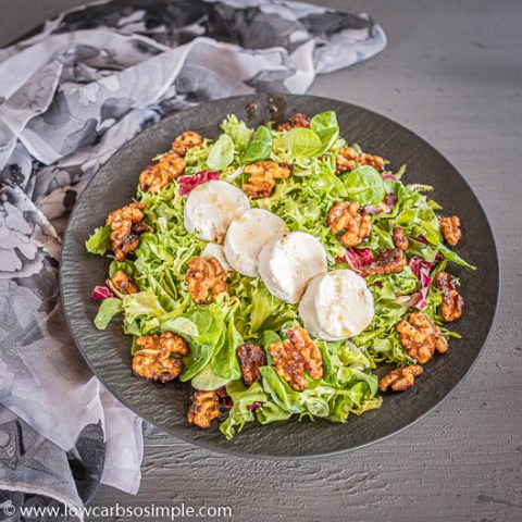 5-Ingredient Keto Goat Cheese Salad with Caramelized Walnuts | Low-Carb, So Simple