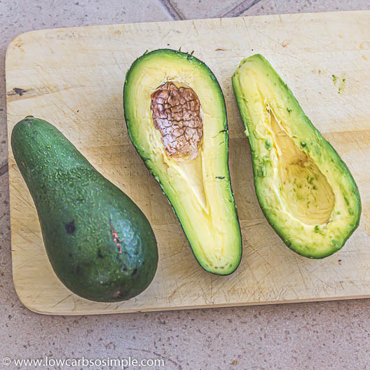 Halved Avocado with Pit Discarded | Low-Carb, So SImple