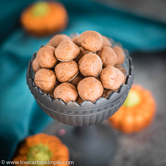 Keto Pumpkin Spice Cookie Dough Balls | Low-Carb, So Simple