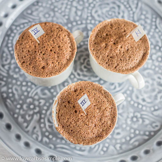 Mug Cakes with Gingerbread Spice Mix | Low-Carb, So Simple