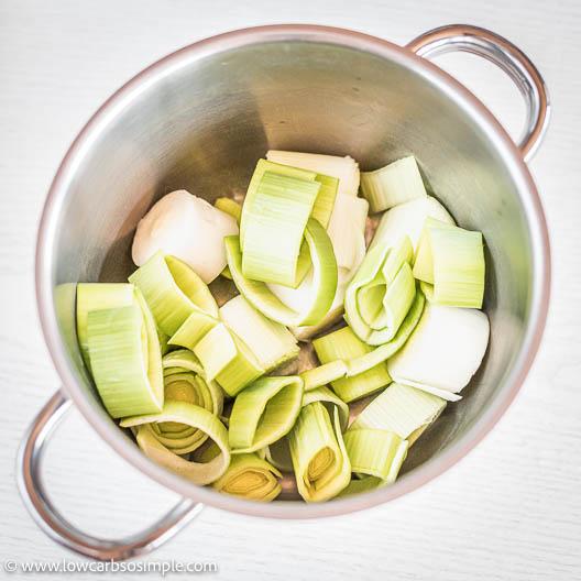 Leek in a Saucepan | Low-Carb, So Simple