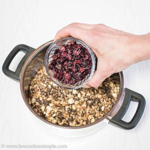 Adding Craisins to Saucepan | Low-Carb, So Simple