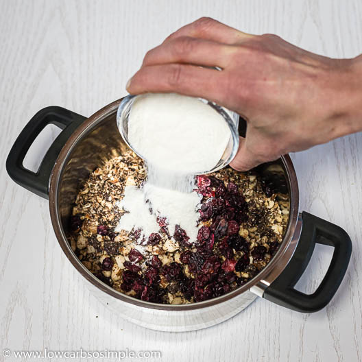 Adding Collagen to Saucepan   Low-Carb, So Simple