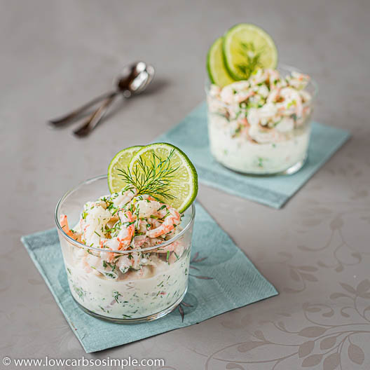 Lime and Dill Shrimp Salad with a Touch of Ginger | Low-Carb, So Simple