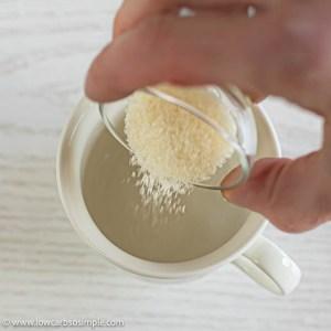 Adding Gelatin Powder   Low-Carb, So Simple