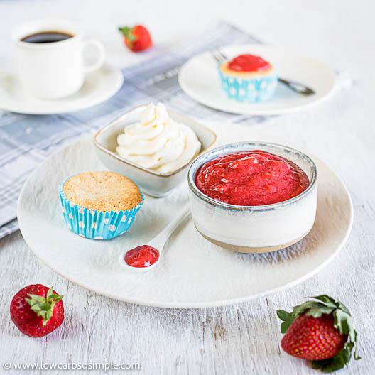 4-Ingredient Fresh Sugar-Free Strawberry Jam | Low-Carb, So Simple