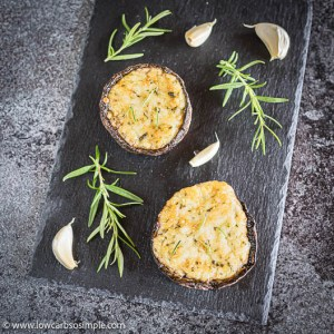5-Ingredient Grilled Gratinated Portobello Mushrooms | Low-Carb, So Simple