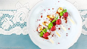 5-Ingredient Strawberry Caprese Skewers with Lemon Basil   Low-Carb, So Simple