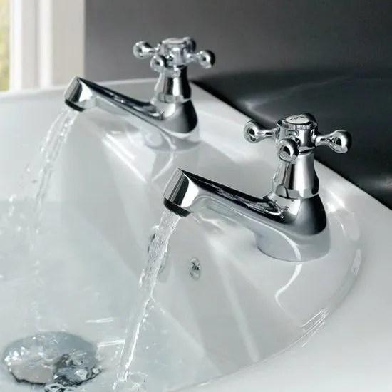 eastbrook stenhouse pair of basin taps chrome