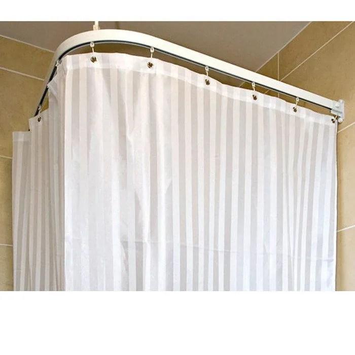 contour white satin stripe shower curtain 2500mm x 1800mm