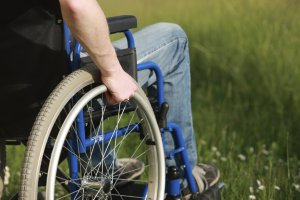 Man in a wheelchair Lowell Disability Lawyer