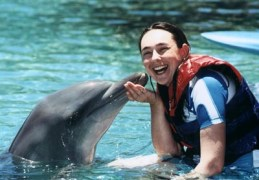Larah with dolphin