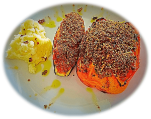 Quinoa and Lentils Stuffed Zucchini and Bell Peppers