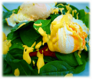 Eggs Benedict with Hollandaise Sauce and Spinach