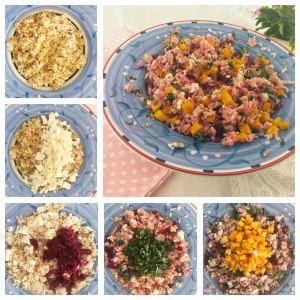 Quinoa, Rice, Feta, Beetroot, Kale, Pumpkin Salad