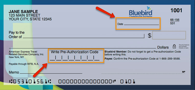 """How to Write American Express Bluebird Check"""