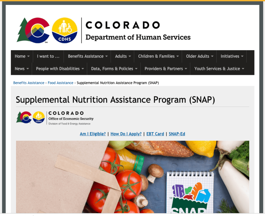 """Colorado Food Stamps and EBT"""
