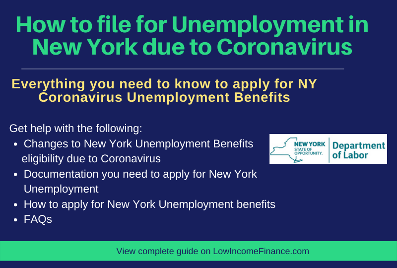 """How to file for Unemployment in New York due to Coronavirus"""