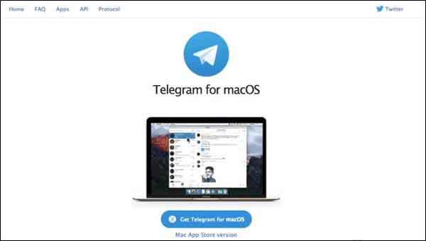 Click on 'Get telegram for macOS'