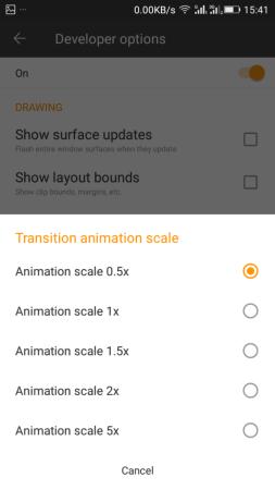 Adjusting Animation scales